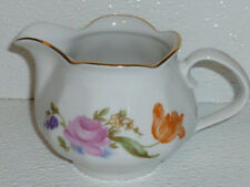 J L Menau Creamer Henneburg German Democratic Republic Porcelain Floral