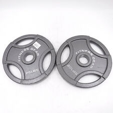 """Olympic 25LBS Weight Plates 2"""" Pair Cast Iron Barbell Fitness Gear (50LBS Total)"""