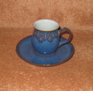 DENBY MIDNIGHT COFFEE CUP & SAUCER (DEMI-TASSE)