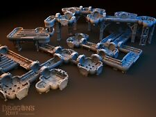 Huge Deck Tunnels Set Scaled to 40mm Science Fiction Wargaming Space Hulk