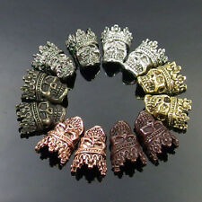 Solid Metal Spacer Beads Charms for Bracelets Jewelry Making - Skull & Crown