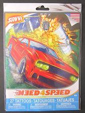 "SAVVI TATTOO Need4Speed Car Tattoos 27+  2"" - 1/2"" Made In USA Package Brand NEW"
