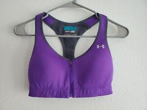 Under Armour Heat Gear Sports Bra Made For Me Purple Womens 34B
