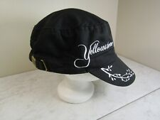 Polar Black/White Yellowstone 100% Cotton Baseball Hat Cap Adjustable