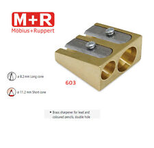 Mobius and Ruppert (M+R) 0603 DOUBLE WEDGE CONE SHAPED BRASS Pencil sharpener