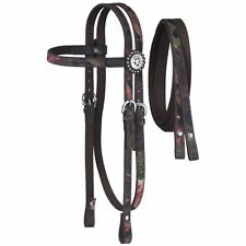 Tough-1 Nylon Headstall and Reins with Fun Prints Overlay and Dot Tough Timber