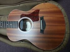 mahogany Taylor GS Mini acoustic electric guitar with case