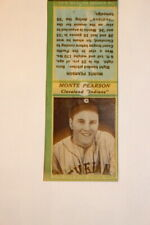 #6882B,Rare Vintage Matchbook Cover Cleve Indians Baseball Monte Pearson 1936