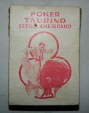 Vintage Poker Taurino Bull Fighting Sealed Playing Cards Mexico Estilo Americano