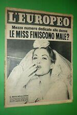 L'Européen 1954 Giovanna Papp +Marlene Dietrich+Viareggio+Ballerines Voie Mi