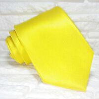 Cravatta uomo oro shock tinta unita TOP Quality NOVITÀ Made in Italy 100% seta