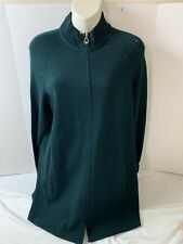 St john sport green turtleneck sweater