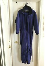 Womens One Piece Quilted Ski Suit Blue Size M