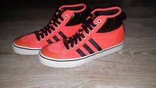 Adidas Originals Nizza Hi Sneakers Orange/Black Men Shoes Size 10
