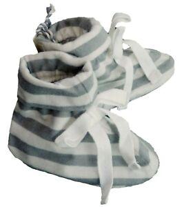 Baby GAP Boys Girl Shoes Booties Unisex Cream Stripe Pixie Organic Crib Pram 3-6