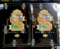 1993 Upper Deck Series 1 Baseball Cards - Two Factory Sealed Boxes of 36 Packs
