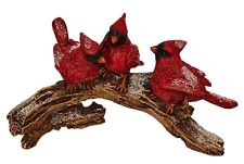 "RAZ Imports CARDINALS on BRANCH Christmas table decor 8.5""L #3801634"