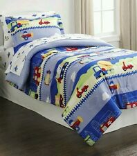 New Piper Cars Planes Motorcycle Boy'S Twin Comforter & Sham.