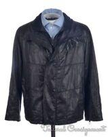 GIORGIO ARMANI BLACK LABEL Black Solid Cotton Poly Coat Jacket  - EU 54 / US 44