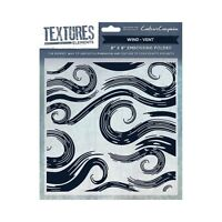 """Crafters Companion Textures Elements 8 x 8"""" Folders / A6 Unmounted Rubber Stamps"""