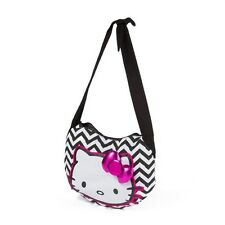 Hello Kitty Chevron Crossbody Bag Pink Bow Shoulder Bag - NWT