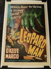 "THE LEOPARD MAN Original 1943 Movie Poster, 27"" x 41"", C8.5 Very Fine/Near Mint"