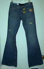 JUICY COUTURE DISTRESSED WOMEN'S JEANS SIZE 26 FLARE LEG MADE IN U.S.A.! - NWT!