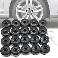 20pc Wheel Nut Bolt Cover Caps Set Round w/ Puller For VW Golf Mk7 Phaeton 28mm