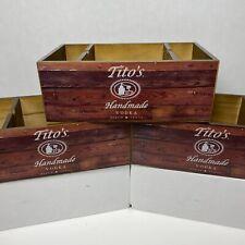 Titos Vodka Napkin Holder Barware Organizer Wood New
