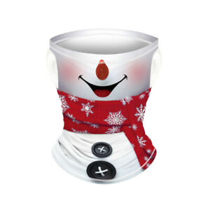Boy Christmas Santa Face Mask Bandana Snood Scarf Neck Tube Balaclava Xmas