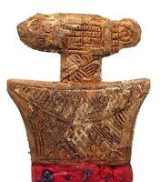 Art African - Comb Baoulé Antique & Unusual - Fine Pattern Akan - 18,5 CMS