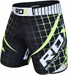 RDX MMA Fight Shorts R2 Green Kampfsport Hose Fight BJJ Grappling Shorts Herren
