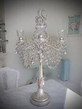 Silver 68cm Candle Four Arm Huge Candelabra Crystals Wedding Christmas Birthday