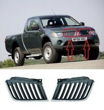 NEW MITSUBISHI L200 FRONT PAIR TOP GRILLE WITH CHROME SET LEFT + RIGHT 2006-2010
