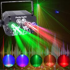 128 Muster Lichteffekt RGB LED Laser Projektor Disco Party Bühnenbeleuchtung DHL