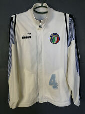 RARE VINTAGE OLD RETRO MEN'S ITALY ITALIA NATIONAL JACKET SOCCER FOOTBALL SIZE M