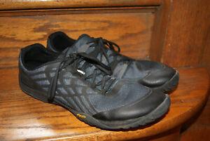 Merrell JO9673 Men's 12 Shoes Climbing Vibram Sole Barefoot Black Gray EUC