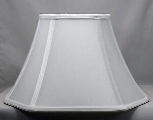 "Urbanest Silk Square Cut Corner Bell Lamp Shade 6""x12""x8"" Softback Spider Fitter"