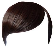 Fringe Bang Clip en extensiones del pelo Recto marrón medio # 6 Frontal