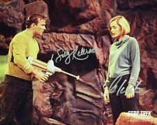 William Shatner Sally Kellerman Signed 10x8 Photo Autograph W/ COA Star Trek