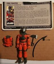 New listing Vintage G.I.Joe 1985 Loose Barbecue Complete Near Mint/Mint Small Elbow Crack Fc