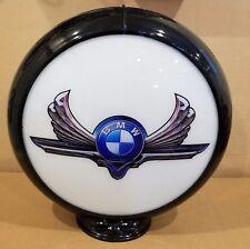 "BMW Gas Pump Advertising Globe 13.5"" Glass Lenses"