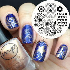 Nagel Schablone BORN PRETTY Nail Art Stamp Stamping Template Plates BP 64