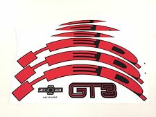 HED.3 Wheel Decal/Sticker Set of 12 RED For 40mm+ rim Jet/HED.3 one piece