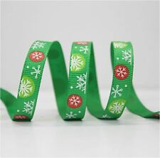 1 yard (90cm) Xmas CHRISTMAS Green 1cm Ribbon Decor Gift Present