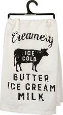 Primitives By Kathy Flour Sack Dish Towel ~ Farm Creamery Butter Ice Cream Milk