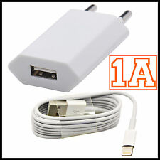 CARGADOR USB + CABLE PARA IPHONE 5 5S 5C 6 6S 7 8 PLUS IPAD USB 8 PIN DATOS