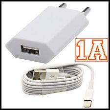 CARGADOR USB + CABLE 8 PIN PARA IPHONE SE 5 5S 5C 6 6S 7 PLUS CARGA Y DATOS