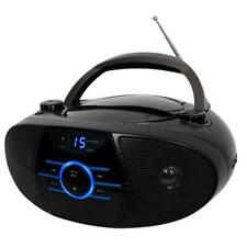 Bluetooth Jensen Portable Stereo Boombox Cd Player Am/Fm Radio Aux-In Blue Led