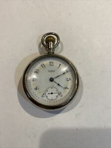 Elgin 18s 15 Jewel Nickel Fancy Dial Running  Antique pocket watch